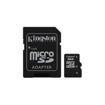 TARJETA MEMORIA MICRO SECURE DIGITAL SD HC 8GB KINGSTON + ADAPTADOR SD