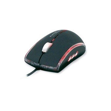 MINI MOUSE RATON PHOENIX OPTICO ILUMINADO TACTO SUAVE CABLE USB / PS2 800DPI