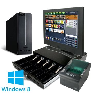 "Pack TPV 17"" Táctil con Windows 8 y Sioges One"