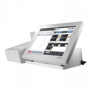 TPV Casio V-R100 Blanco con impresora, software y visor integrados - Cajon incluido