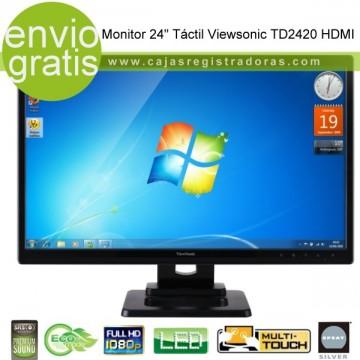 "Monitor Táctil 24"" Viewsonic TD2420 HDMI - Multi touch - Full HD 1080  y Altavoces integrados"