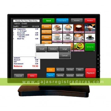 "Monitor Táctil 17"" Vivapos T1705 LCD USB Negro"