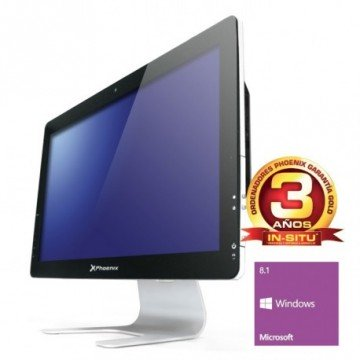 "ORDENADOR PHOENIX ALL IN ONE CONSTELLATION INTEL PENTIUM DUAL CORE 4GB DDR3 500GB  LED 21.5"" RW WIFI WEBCAM W8.1"