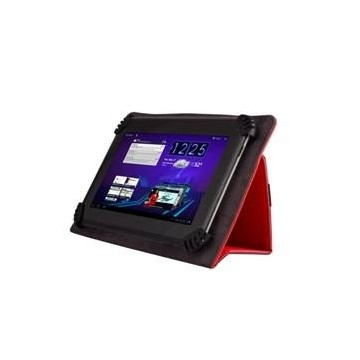 FUNDA BOOK UNIVERSAL PARA TABLET 7'' GREEN GO SEMI RIGIDA ROJO