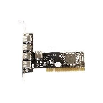 TARJETA PCI 4+1 PUERTOS USB 2.0 480MBPS