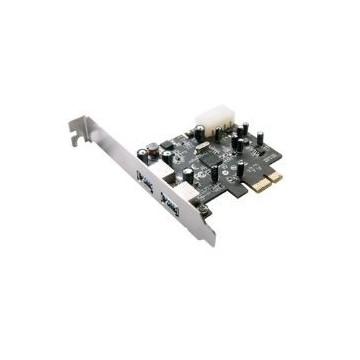 TARJETA PCI EXPRESS X1 2 PUERTOS USB 3.0 5GBPS PERFIL BAJO