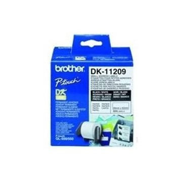 ETIQUETAS PAPEL PRECORTADA BROTHER 29 x 62 MM 400E QL-500A QL-500BW QL-560 QL-570 QL-580N QL-1050