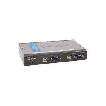 DATA SWICHT D-LINK KVM 4 PC MONITOR TECLADO + RATON USB CON CABLES