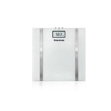 BASCULA PERSONAL TAURUS SINCRO GLASS 990537 / 150 KG/ 10 MEMORIAS