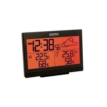ESTACION METEOROLOGICA DAEWOO DWS-600 PANTALLA LCD / TEMPERATURA INTERIOR Y EXTERIOR / RELOJ