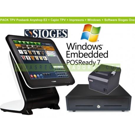 Pack TPV Posbank Anyshop E2 - Intel D2550 + Impresora + Cajon + Software y Windows