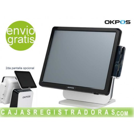 "TPV TÁCTIL OKPOS ZED-7 17"" J1900 2Ghz 2GB 64GB Negro / Blanco"