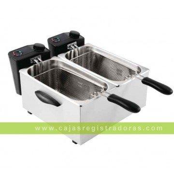 Freidora doble para sobremesa de uso no intensivo Caterlite 2x 3,5L