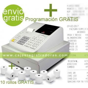 Caja REgistradora Olivetti ECR 7190 + Programación + 10 Rollos térmicos