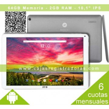 "Tablet 10,1"" SPC IPS Heaven QC 2GB 1.3GHz 64GB B/P"