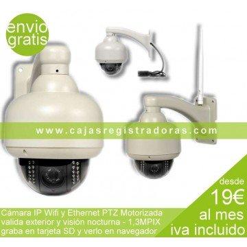 Cámara IP Wifi PTZ Motorizada Válida Exterior/ Interior 720p SD