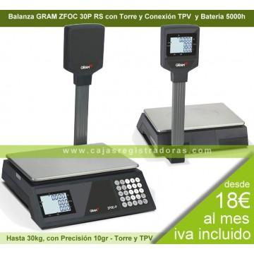 Balanza Gram ZFOC 30P RS con Torre y conexión TPV