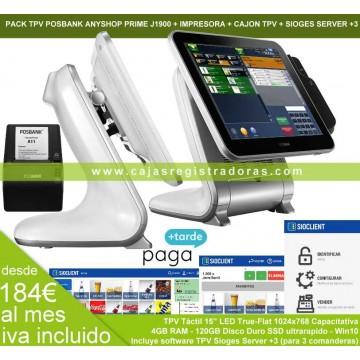 TPV Anyshop Prime J1900 + Sioges Server +3 + Impresora y Cajon