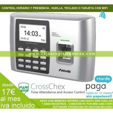Control horario y de presencia con WiFi Anviz A-300