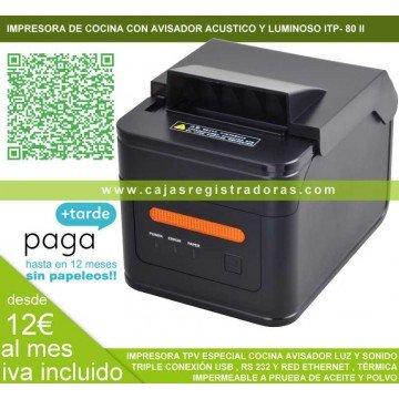 Impresora Térmica ITP-80 II Beeper especial cocina con avisador acústico y luminoso