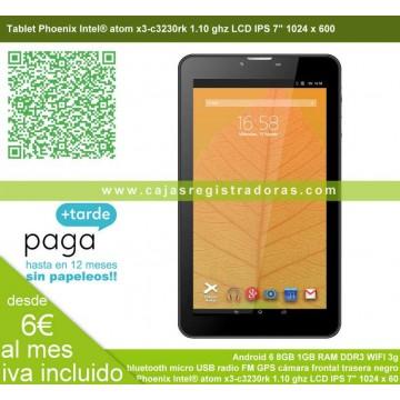 "Tablet Phoenix Intel® atom x3-c3230rk 1.10 ghz LCD IPS 7"" Android 8GB 1GB RAM DDR3 WIFI 3g bluetooth micro USB GPS cámaras"