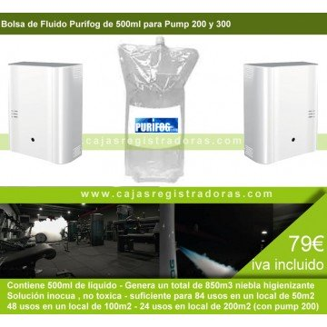 Bolas de Fluido Purifog 500ml - para Purifog Pump 200 y Purifog Pump 300