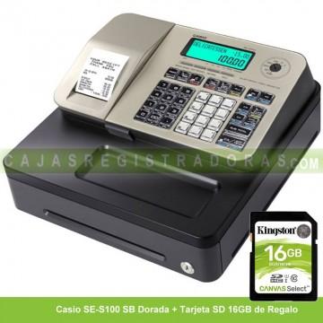 Caja Registradora Casio SE-S100 SB Oro (Cajón Pequeño)