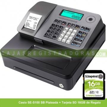 Caja Registradora Casio SE-S100 SB Plata (Cajón Pequeño)