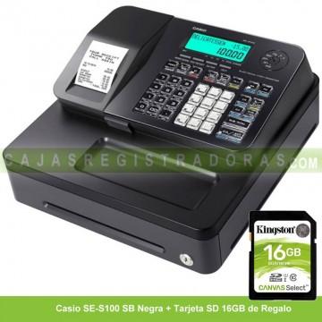 Caja Registradora Casio SE-S100 SB Negro (Cajón Pequeño)