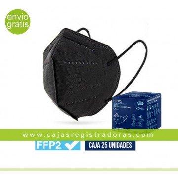 Mascarilla FFP2 EPI NR CE Caja 25 Unidades Blister Individual Color Negro