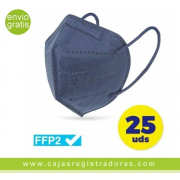 CAJA DE MASCARILLAS FFP2 CLUB NÁUTICO 25 UNIDADES COLOR ROSA ENVASADAS DE FORMA INDIVIDUAL 5 CAPAS PROTECCIÓN