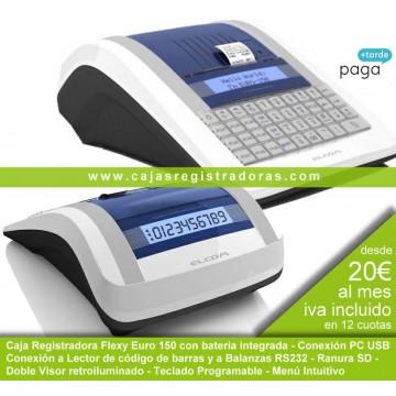 Caja Registradora Euro 150 Flexy con bateria y conexión pc