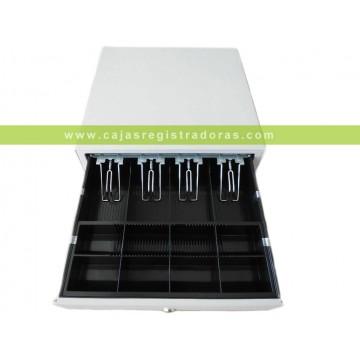 Cajon TPV  Blanco EC-410 Electrico 41x41cm - Pisabilletes metalico