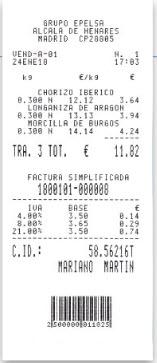 Balnza comercial Epelsa Marte 10 V4 ILC con impresora de tickets y etiquetas