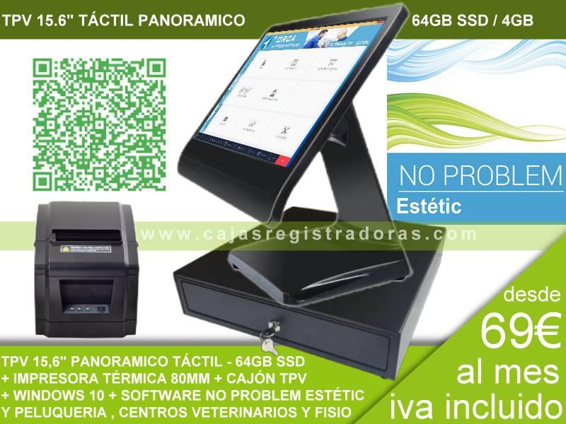 Pack TPV KT100 con Software No Problem Estétic y Peluqueria